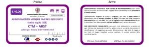 ABBONAMENTO MENSILE OVER 65 SOTTO SOGLIA INTEGRATO CTM ARST euro 40