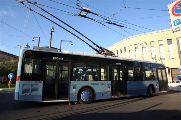 Lecce - Prova linea elettrica Filobus